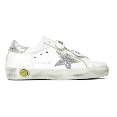 Sneakers Old School White avec étoile pailletée